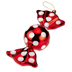 Christmas Baubles Red and White Sweetie - 14X054