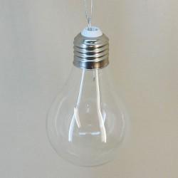 Clear Glass Light Bulb Christmas Baubles - 17X020