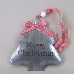 17cm Metal Merry Christmas Tree Hangers - 15X077