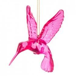 100mm Pink Hummingbird Christmas Baubles - X21046