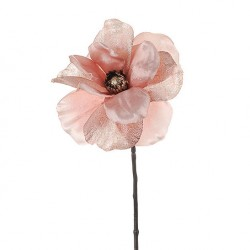 Artificial Anemone Pink Sparkle - X19076