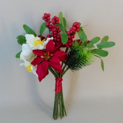 Artificial Christmas Flowers Posy - 18X023