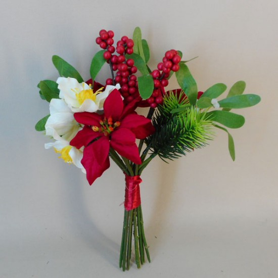 Artificial Christmas Flowers Posy - 18X023
