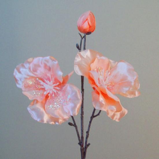 Artificial Dogwood Peach Glitter - 16X023
