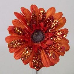 Artificial Gerberas Orange Sparkle - 15X057