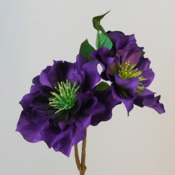 Artificial Hellebore Stem Purple - X19010 EE1