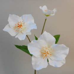 Artificial Hellebores Stem Cream - 17X002