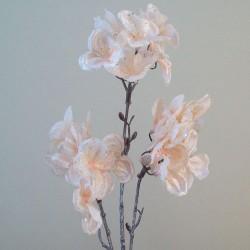 Artificial Hydrangeas Pale Peach Glitter - 16X021