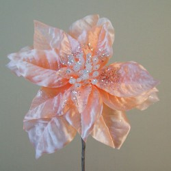 Artificial Poinsettias Peach - 16X022