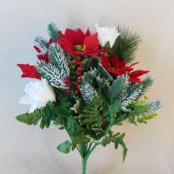 Christmas Poinsettias and Roses Bouquet - X19015