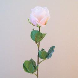 Artificial Roses Bud Pale Peach Glitter - 16X070