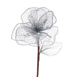 Christmas Poinsettia Silver - 14X004