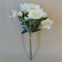 Artificial Hellebores Christmas Roses Bundle Cream - 17X104