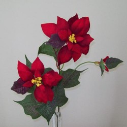 Classic Christmas Poinsettia Red - 14X007