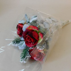 Silk Flowers Christmas Bouquets Festive Cheer - 17X128