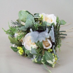 Artificial Flowers Frosty Winter Bouquet - 15X089