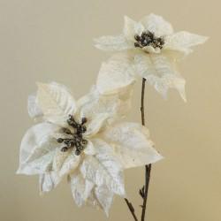 Glitter Poinsettia Cream - 17X161