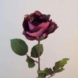 Metallic Artificial Rose Rose Plum - 16X076