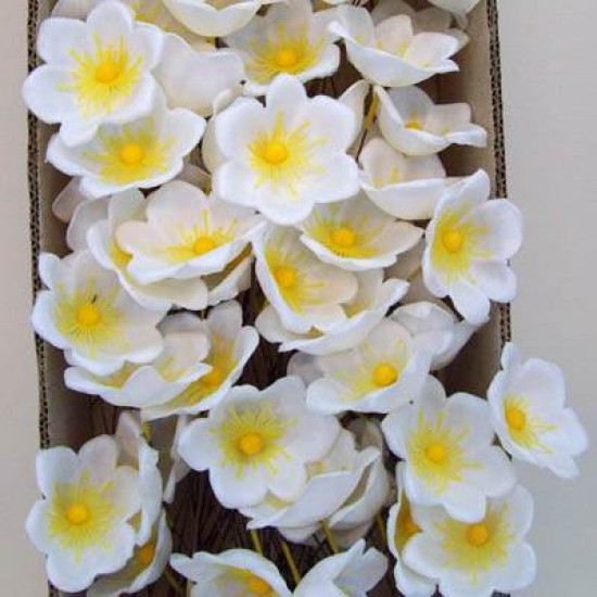 Plastic Wreath Flowers Christmas Rose - X114
