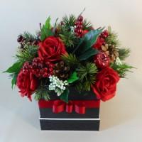 Artificial flowers buy your silk flowers from uk specialists decoflora red robin artificial flower arrangement 17x202 mightylinksfo