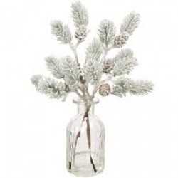 Christmas Flower Arrangements | Snow Covered Pine and Fir Cones - 18X093 - FR 1C