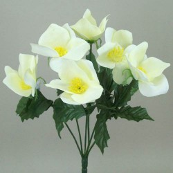 Silk Hellebores Bunch Cream - 13X010