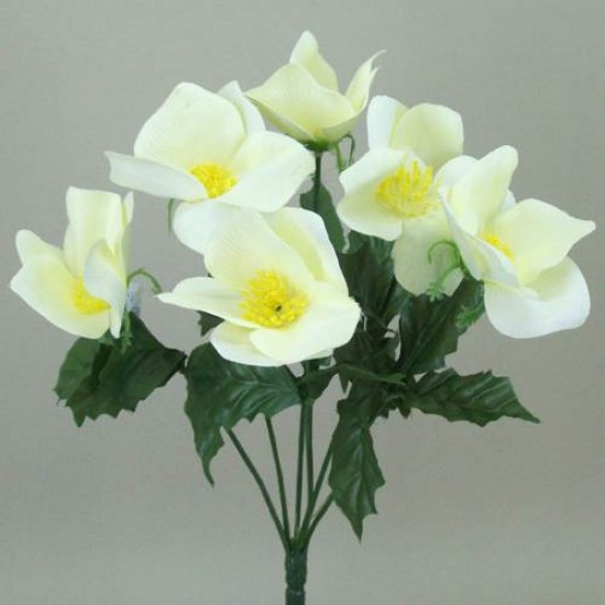 Silk Hellebores Bunch Cream - 13X010 BAY3