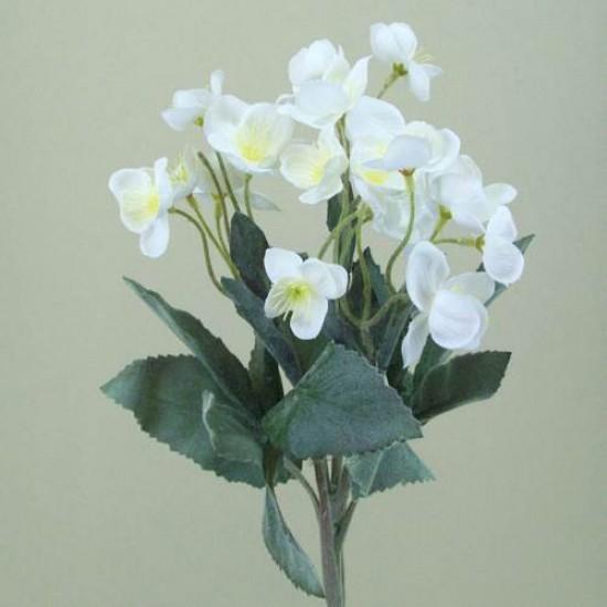 Silk Hellebores Stem White - 13X008