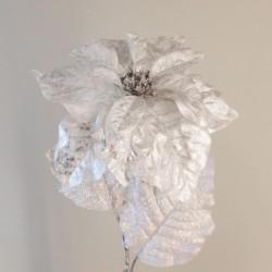 Arendelle Christmas Poinsettias Silver - X20009