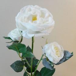 Christmas Flowers   Snowy Rose Spray White - 18X060