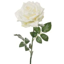 Christmas Flowers   Sparkle Rose Ivory - 17X137