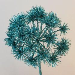Starburst Allium Teal Blue Christmas Flowers - 17X103