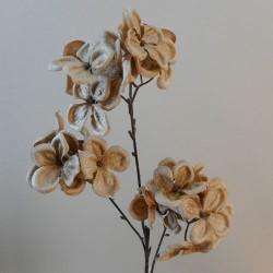 Velvet Hydrangeas Antique Gold - 17X166