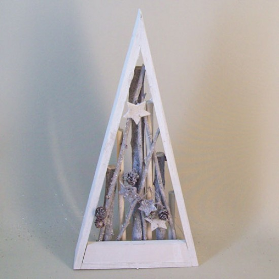 Rustic Twig Shadow Box Christmas Tree - 16X045