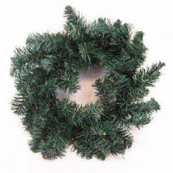 12'' Plain Pine Christmas Wreath Green - X102