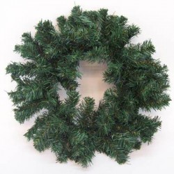 18'' Plain Pine Christmas Wreath Green - X105 BAY3