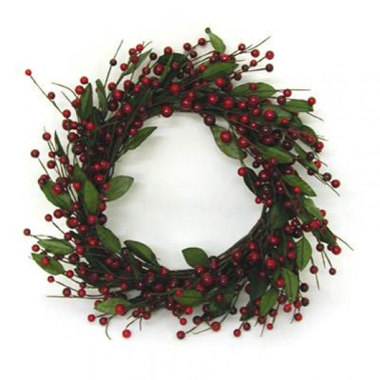 Christmas Artificial Berry and Leaf Wreath - X078