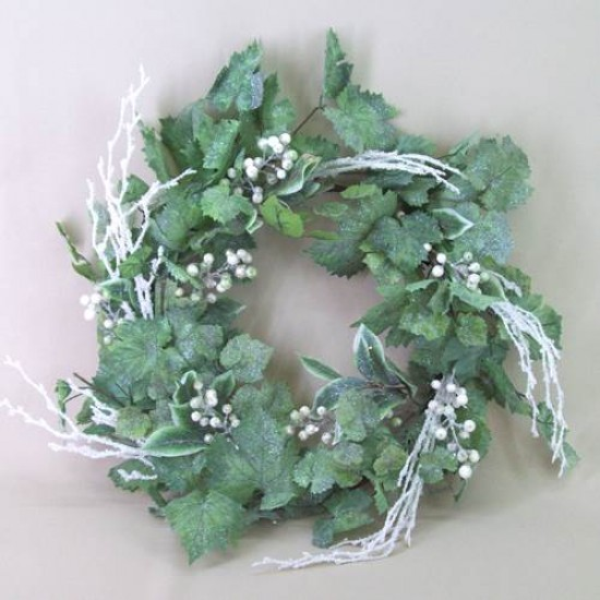 Luxury Christmas Wreath XL Frosted Grape Vine - 13X041