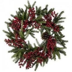 Sabina Pine & Berry Luxury Christmas Wreath - OX001b