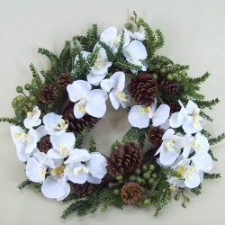 Opulence Orchid and Berry Christmas Wreath - OX061a