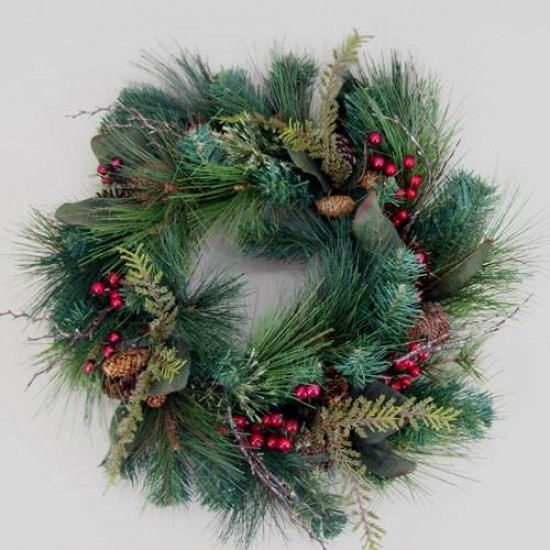 Decorated Christmas Spruce Wreath - X128
