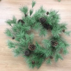 Glitter Spruce with Cones Christmas Wreath 65cm - X20041