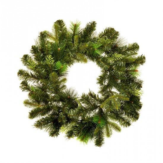 Luxury Mixed Pine Christmas Wreath Green 60cm - 14X037