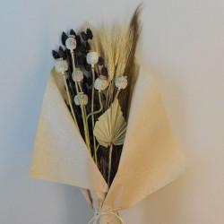 Mixed Dried Flowers Bouquet Neutral - DRI015