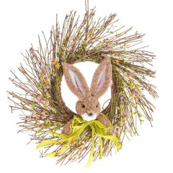 Easter Bunny and Spring Flowers Wreath 48cm - EAS001 BX5