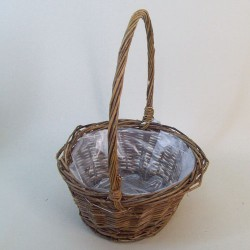 Unpeeled Willow Basket Round - BKT018