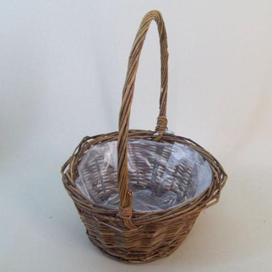 Unpeeled Willow Basket Round - BKT018