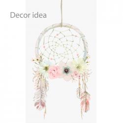 40cm Natural Wreath with Mesh Dream Catcher Effect - DRE001 4D