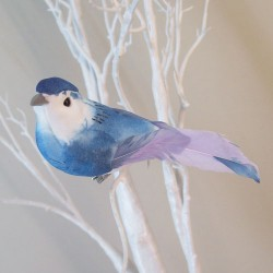 11cm Clip on Bird Blue - BIR010