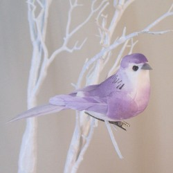11cm Clip on Bird Lilac - BIR011